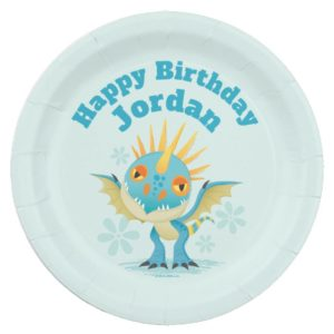 "Cute ""I Love Dragons"" Stormfly Graphic Paper Plate"