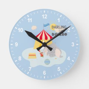 Darling Little Dumbo & Timothy Round Clock
