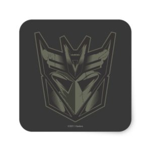 Decepticon Cracked Symbol Square Sticker