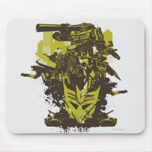 Decepticon Grunge Collage Mouse Pad
