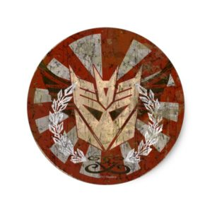 Decepticon Tribal Badge Classic Round Sticker