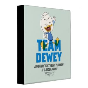 Dewey Duck   Team Dewey - Adventure 3 Ring Binder