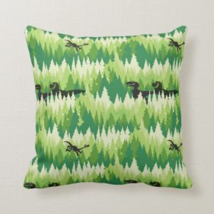 Dino Forest Pattern Throw Pillow