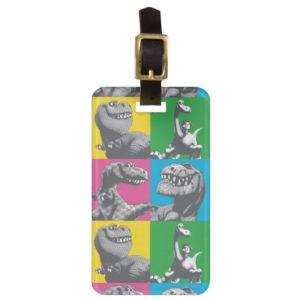 Dino Silhouette Four Square Luggage Tag