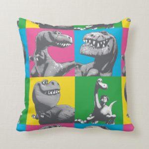 Dino Silhouette Four Square Throw Pillow