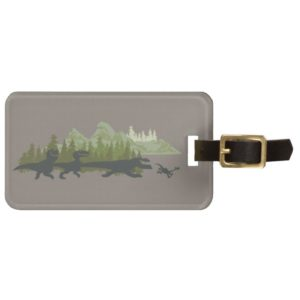 Dino Silhouettes Running Bag Tag