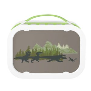 Dino Silhouettes Running Lunch Box