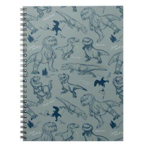 Dinosaur Sketch Pattern Notebook