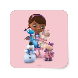 Doc McStuffins and Her Animal Friends Square Sticker