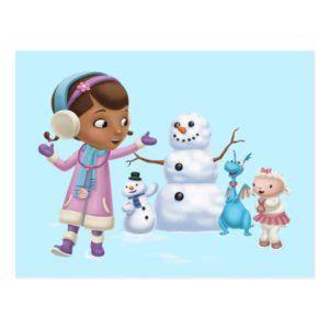 Doc McStuffins | Doc McStuffins Playing In Snow Postcard