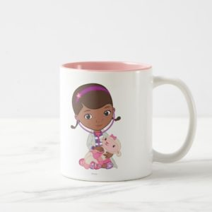 Doc McStuffins Holding Lambie Two-Tone Coffee Mug