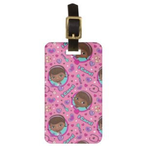 Doc McStuffins   I Care Pink Pattern Luggage Tag