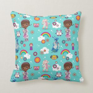 Doc McStuffins | The Care Team Pattern Throw Pillow
