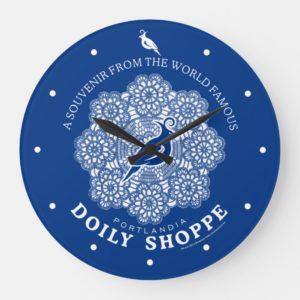 Doily Shoppe Large Clock