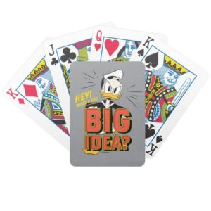 Donald Duck   What's The Big Idea? Bicycle Playing Cards