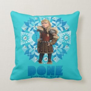 Done Playing Nice - Pink Throw Pillow