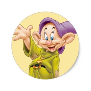 Dopey Waving Classic Round Sticker
