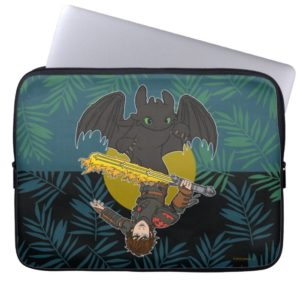"""Dragon Rider"" Toothless & Hiccup Duo Graphic Computer Sleeve"