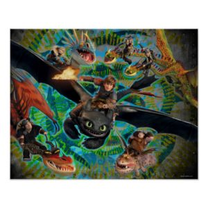 Dragon Riders Group Poster