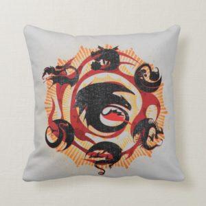 Dragon Silhouettes Throw Pillow