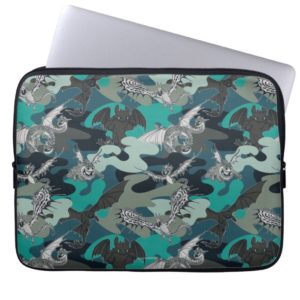 Dragons And Smoke Camouflage Pattern Computer Sleeve