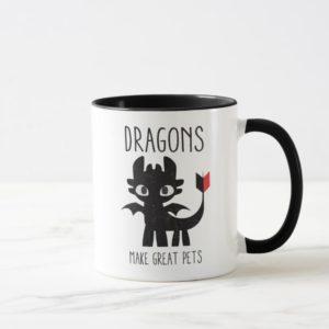 """Dragons Make Great Pets"" Toothless Graphic Mug"