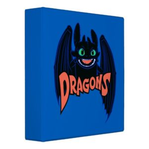 """""""Dragons"""" Toothless Wings Graphic 3 Ring Binder"""