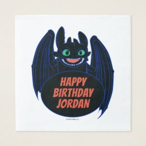 """""""Dragons"""" Toothless Wings Graphic Napkin"""