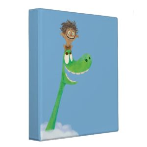 Drawing of Spot And Arlo In Clouds 3 Ring Binder