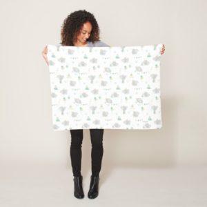 Dream Big Dumbo Pattern Fleece Blanket