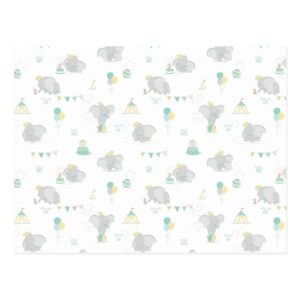 Dream Big Dumbo Pattern Postcard