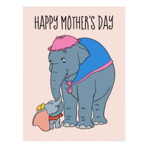 Dumbo and his Mother | Mother's Day Postcard