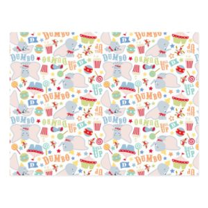 Dumbo and Timothy Roll Up Pattern Postcard