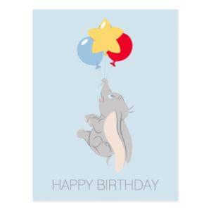 Dumbo & Colorful Balloons | Happy Birthday Postcard