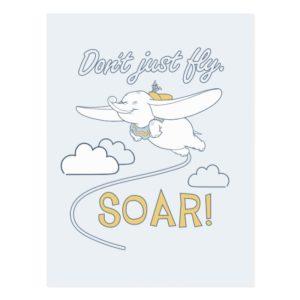 Dumbo | Don't Just Fly. SOAR Postcard
