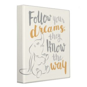 Dumbo | Follow Your Dreams 3 Ring Binder