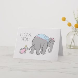 Dumbo following his Mom Closely Card