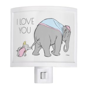 Dumbo following his Mom Closely Night Light