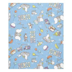 Dumbo | Fun Little Blue Pattern Fleece Blanket