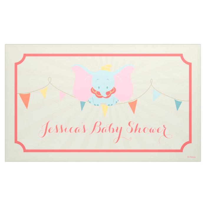 Dumbo Girl Baby Shower Banner Custom Fan Art