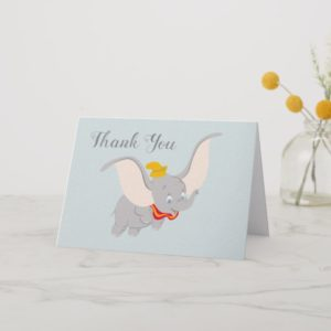 Dumbo Soaring Through the Sky | Thank You Card