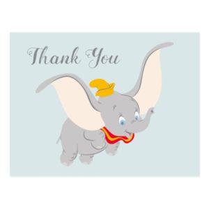Dumbo Soaring Through the Sky | Thank You Postcard