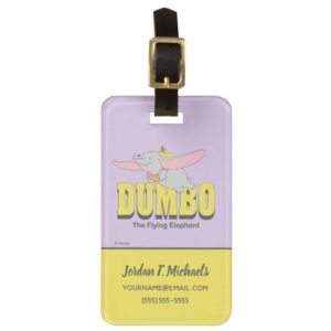 Dumbo the Flying Elephant Bag Tag