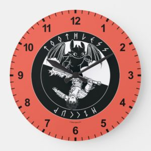 Duo Toothless & Hiccup Icon Large Clock