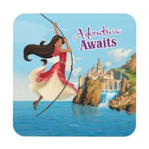 Elena | Adventure Awaits Drink Coaster