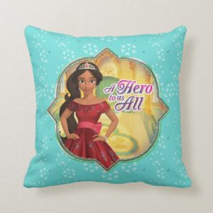 Elena & Isabel | A Hero To Us All Throw Pillow