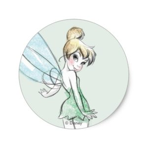 Fearless Tinker Bell Classic Round Sticker