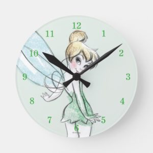 Fearless Tinker Bell Round Clock