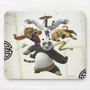 Furious Five Pose Mouse Pad