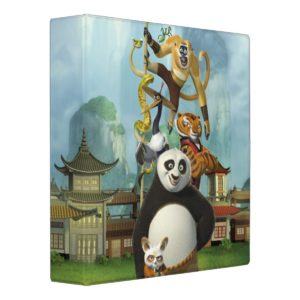 Furious Five Stacked 3 Ring Binder